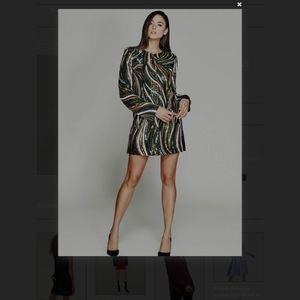 Sequenced Long Sleeve Marciano Micromini Dress